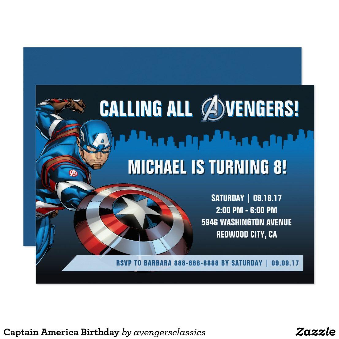 Captain america birthday card captain america birthday america captain america birthday card bookmarktalkfo Images
