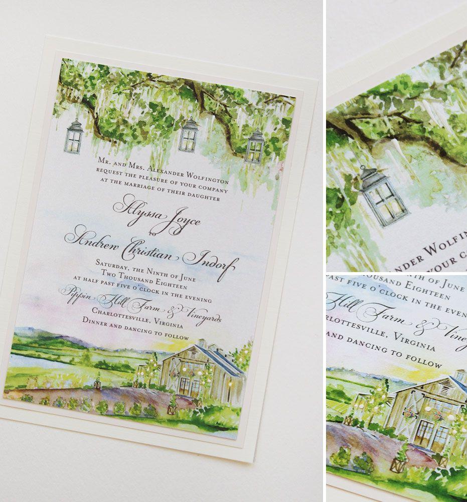 Alyssa W. - Pippin Hill Vineyard Wedding Invitations, | Vineyard ...