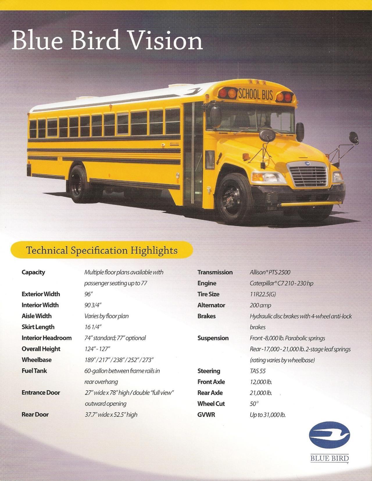 Pin by jacob plante on bluebird school bus brochures