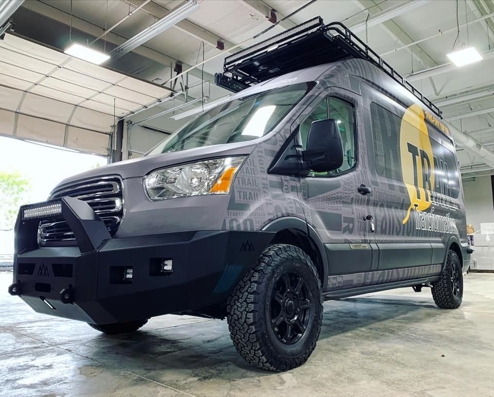 This Camper Van Is Decked Out With Everything You Need At An Affordable Price Vandoit Ford Transit Ford Transit Ford Transit Camper Transit Camper