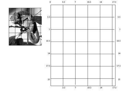 Grid drawing turn into a handout for sub plan