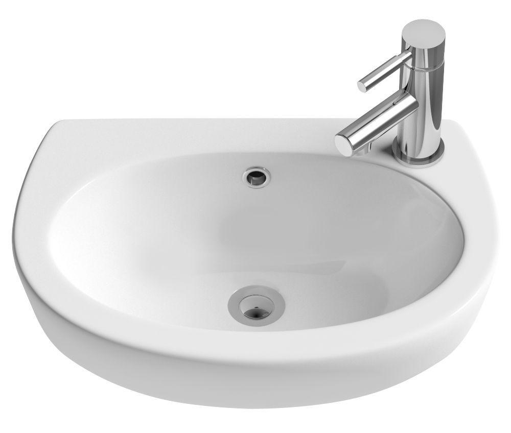 Cooke Lewis Slimline Semi Recessed Basin Rooms Diy At B Q Semi Recessed Basin Basin Room Diy