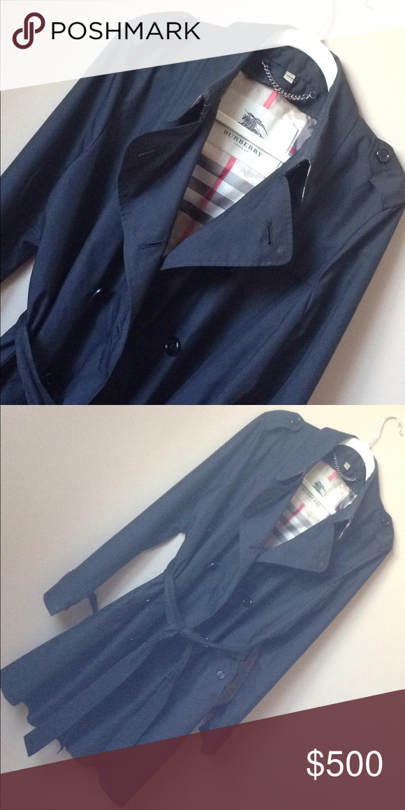 2149865d76a Classic Burberry trench jacket coat XLarge Large size 16 Preowned very good  condition Black Price firm