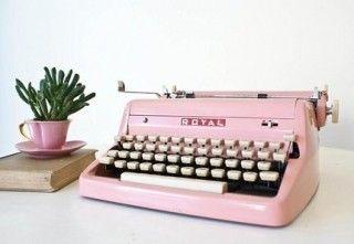 Pink Royal Typewriter