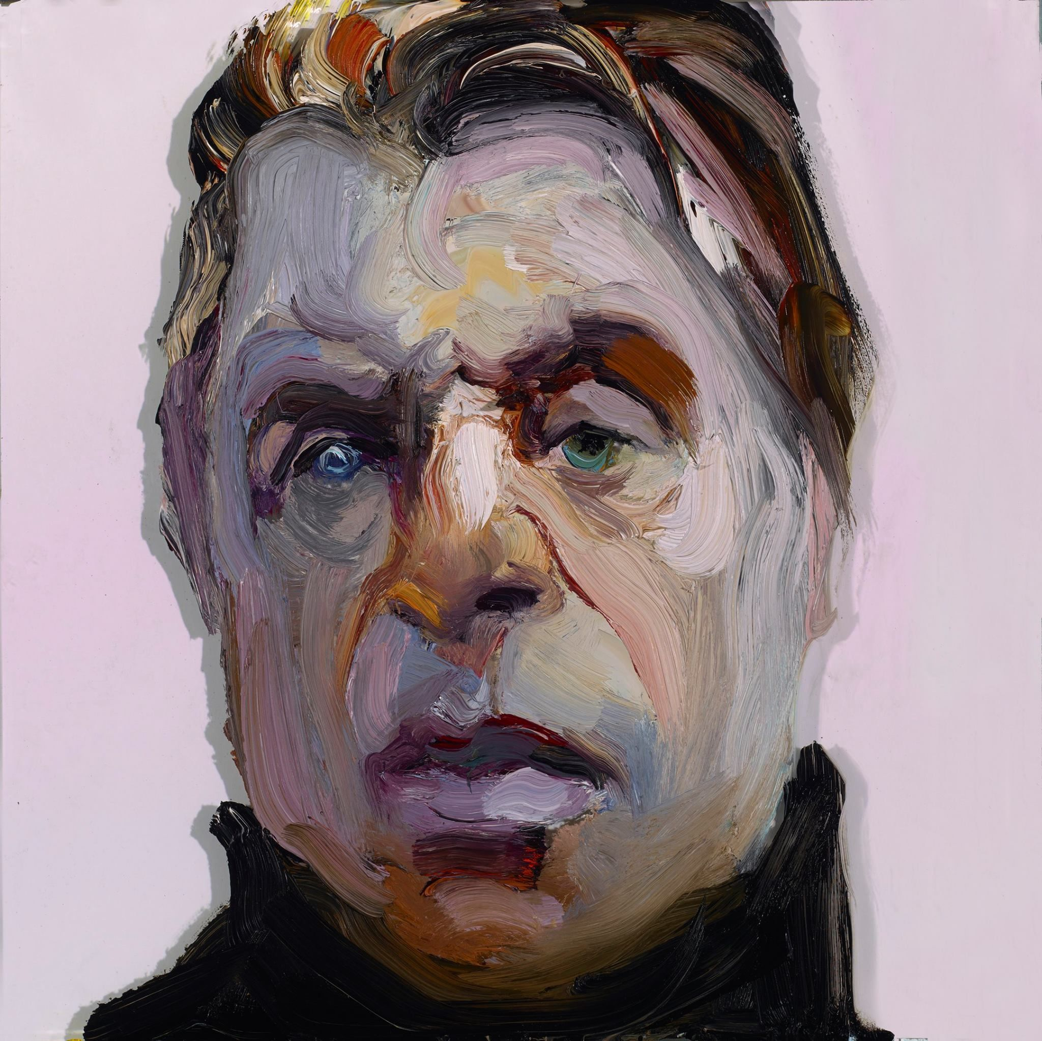 Painter Ray Turner - Foes and Heroes Francis Bacon 12 x 12 inches o/g 2014  http://rayturner.us/works/population/