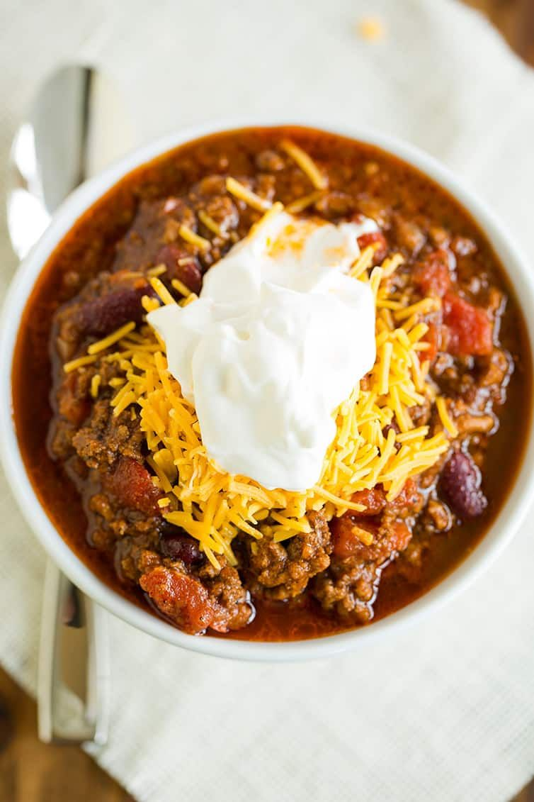 The Best Chili Recipe Brown Eyed Baker Recipe Classic Chili Recipe Best Chili Recipe Chili Recipes