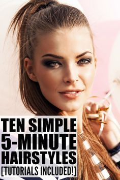 10 Everyday Hairstyles for Long Hair (in Under 5 Minutes   Easy work ...
