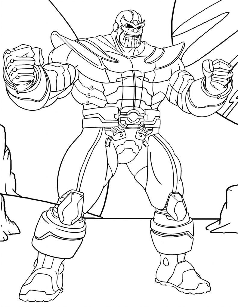 Thanos Coloring Pages | Avengers coloring pages, Avengers ...