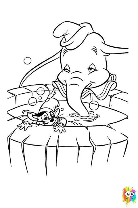 dumbo coloring pages - Google-søgning | Coloring pages ~ | Pinterest ...