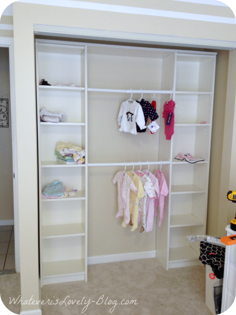 Nursery Closet Ikea Billy Twins Pinterest Ikea billy Nursery