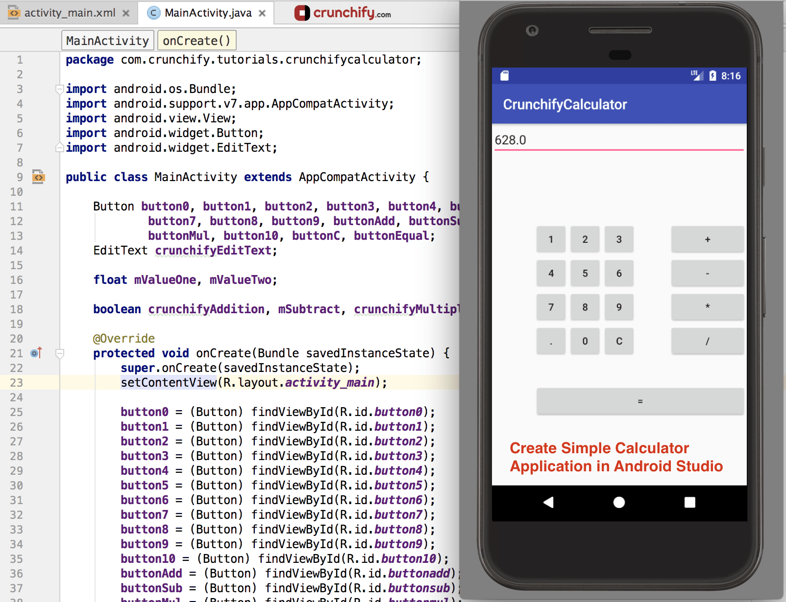 How To Create Simple Calculator Android App Using Android Studio