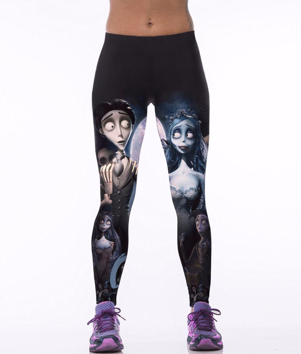 3D Beauty Warrior Pants Elastic Slim Jeggings Digital Printing Legging  Fitness Women Summer Sporting Leggings High Waist