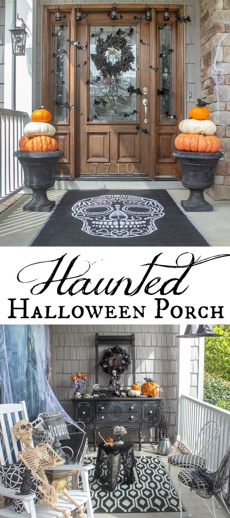 Haunted Halloween Front Porch Scary halloween