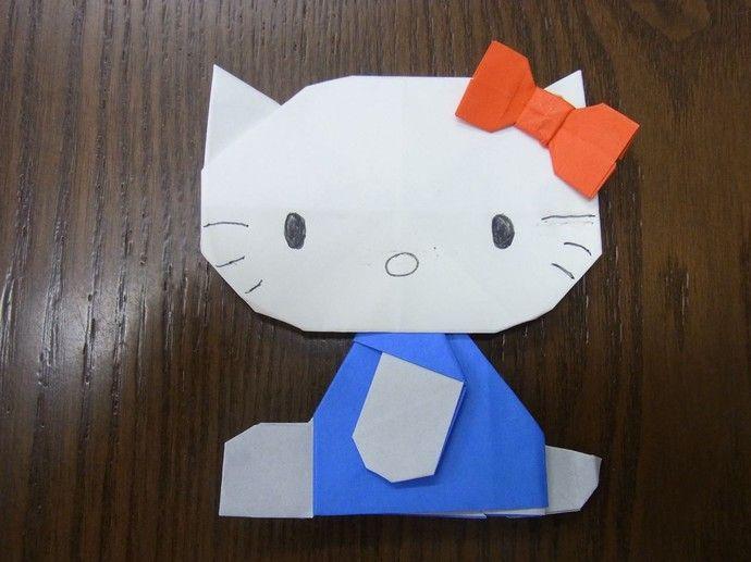 簡単 折り紙 折り紙 キティちゃん 折り方 : pinterest.com