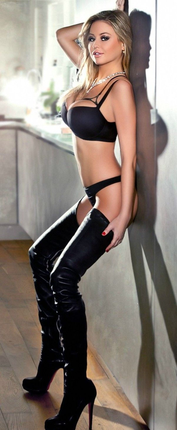 Sexy lingerie and boots