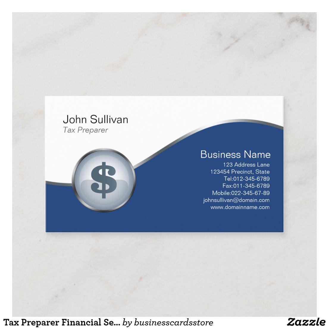 Tax Preparer Financial Services Dollar Icon Business Card Zazzle Com Business Marketing Design Social Media Advertising Design Advertising Design Business