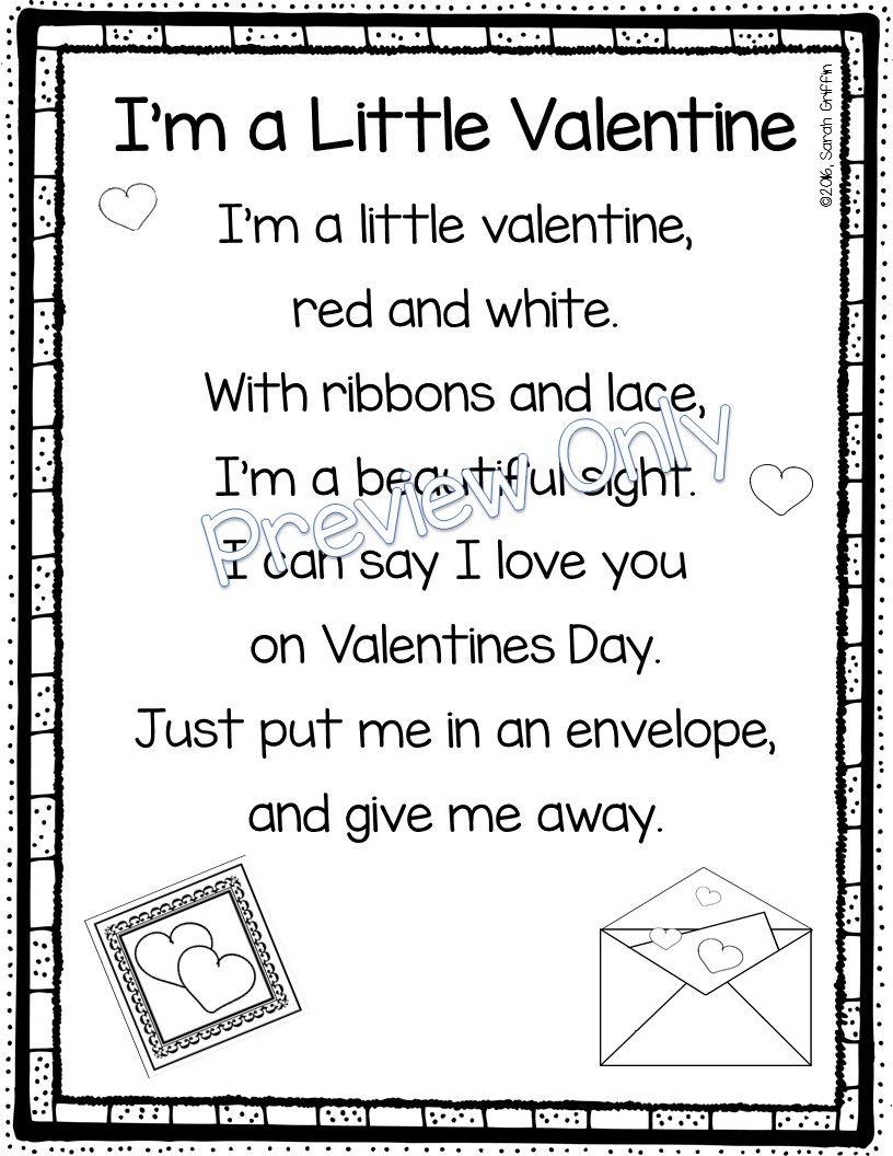 5 Valentine S Day Poems For Kids Valentines Day Poems Valentines Songs For Kids Valentines Poems