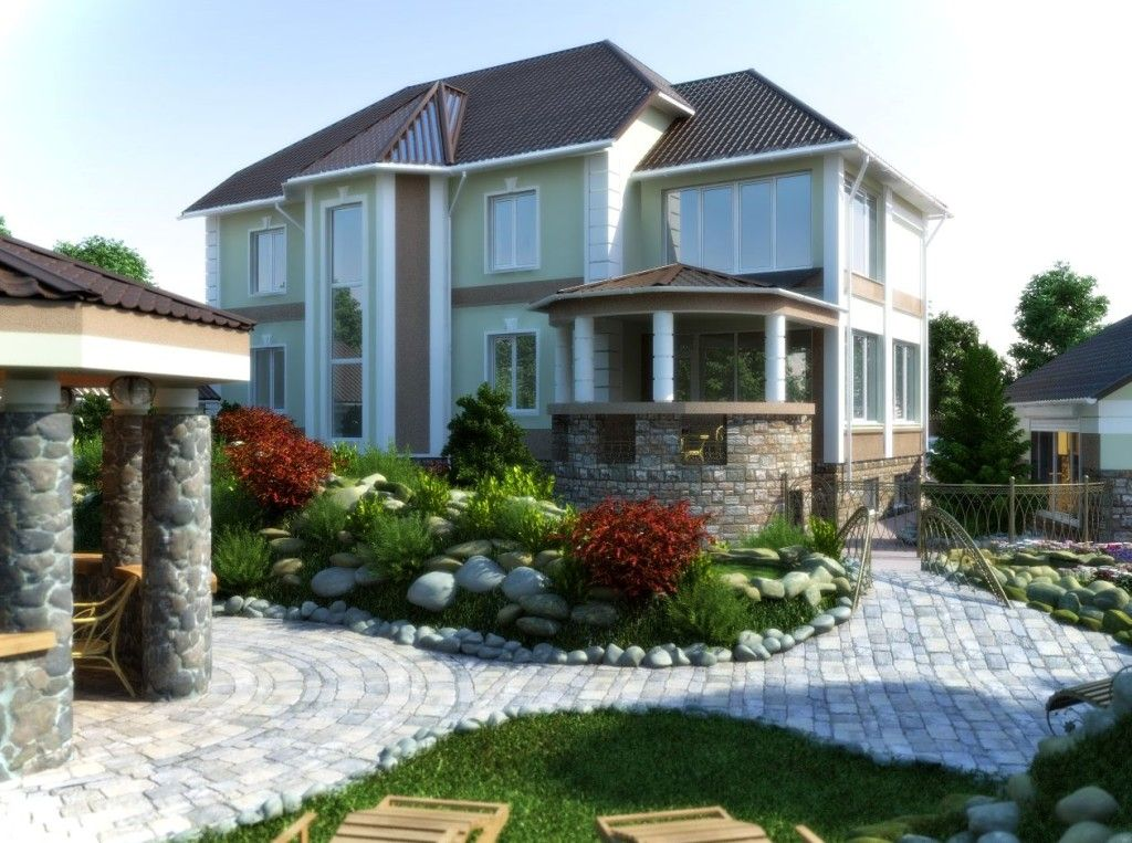 Home Garden Design In Cottage Design