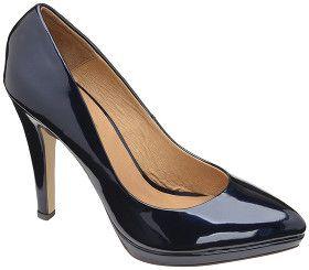 Ravel Marcia Navy Patent Platform Court Shoe