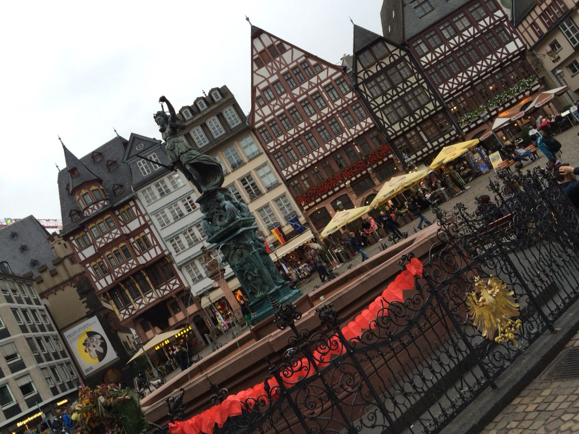 I highly recommend visiting Frankfort in Germany because it's just my fav' city