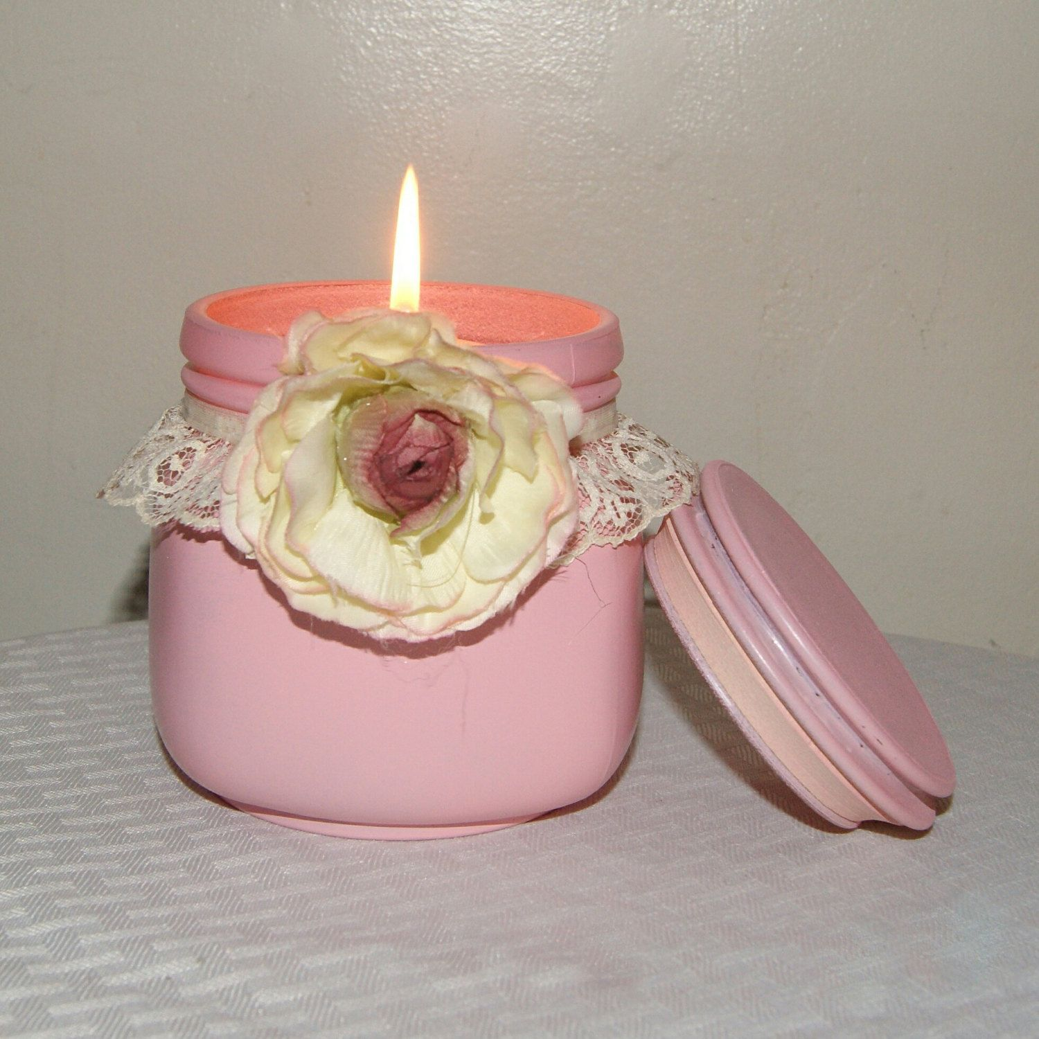 VERSATILITY This Pink Shabby Chic Jar is one of my favorite ...