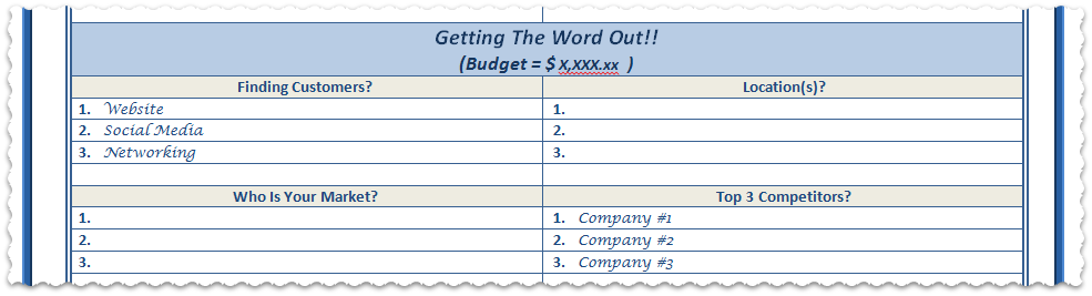 1000 images about Business Plans – Business Strategy Template Word