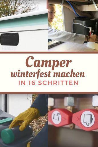 Checkliste: Wohnwagen und Wohnmobil winterfest machen (mit Video!) #wohnwagen