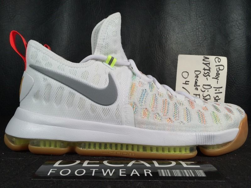 reputable site ceadf 84bb5 ... NIKE ZOOM KEVIN DURANT KD 9 IX SUMMER PACK 9.5 FLYKNIT MULTI COLOR PE 843392  900 ...
