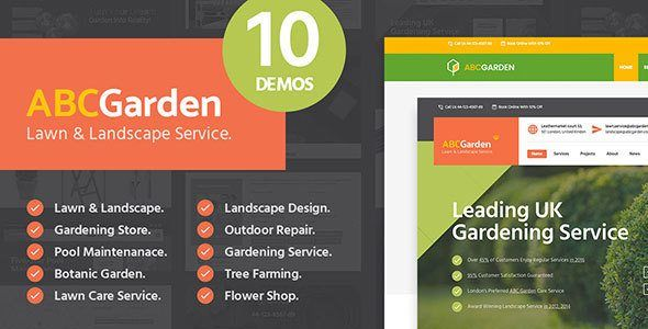 Download ABC Garden - Landscape  Gardening WordPress Theme Nulled