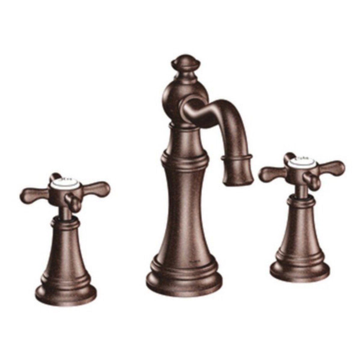 brown bathroom faucets | ... Brown Metal Vintage Moen Bathroom Sink Faucets As Bathroom Furniture