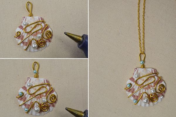 Crafting wire diy shell pendant necklace beads and things crafting wire diy shell pendant necklace aloadofball Gallery