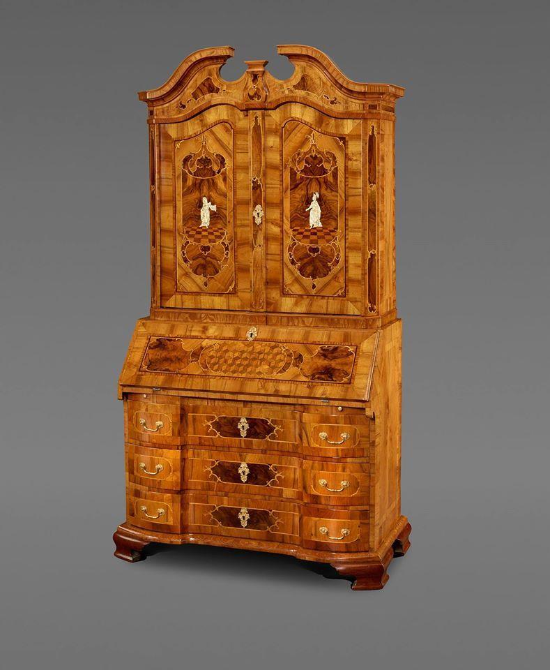 Braunschweiger Aufsatzsekretar Christian Eduard Franke Antiquitaten Www Franke Kunsthandel De Bru Luxury Office Furniture Antique Furniture Pretty Furniture