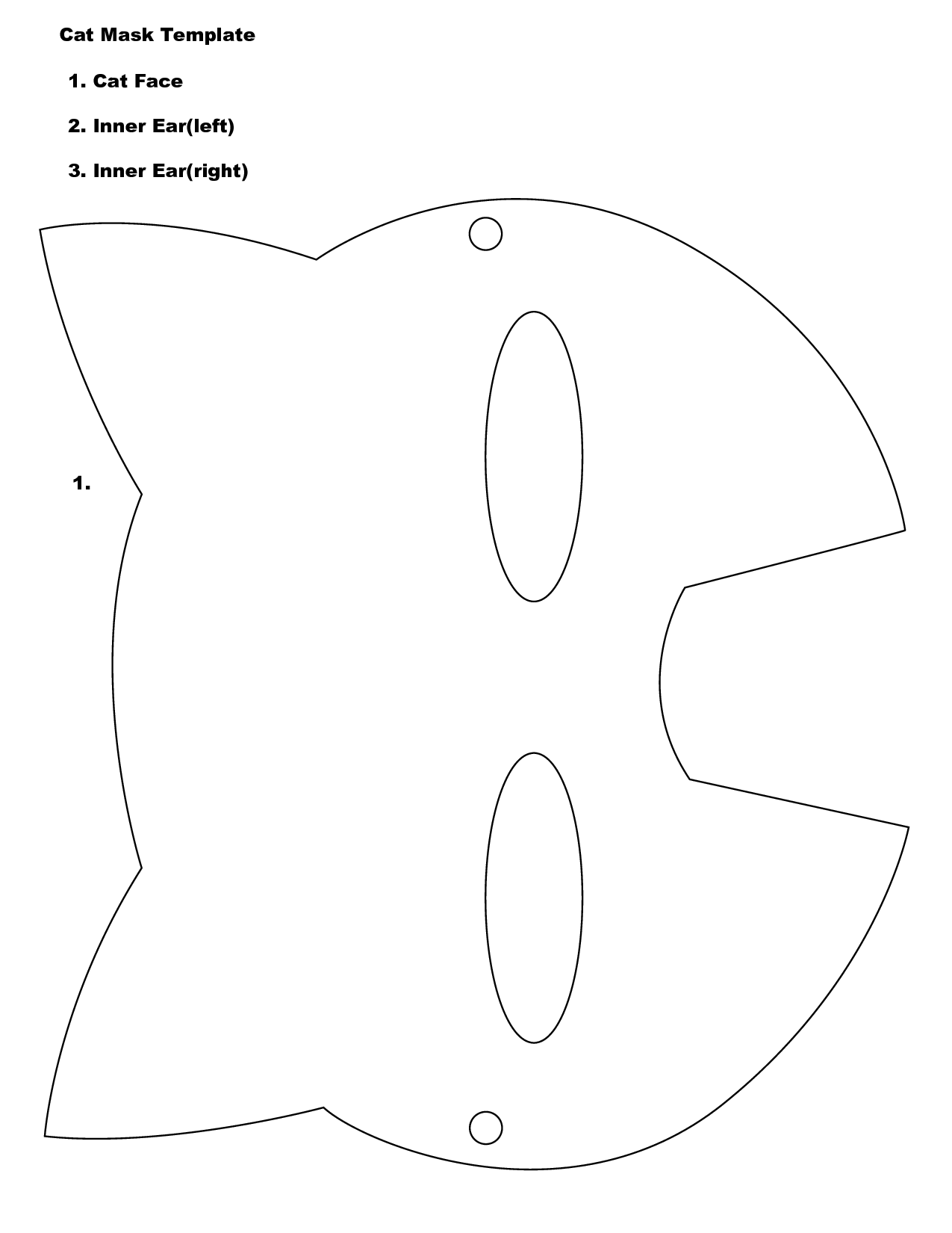 Cat Mask Template : template, Template, Printable, Images, Cliparts.co, Template,, Printable,, Image