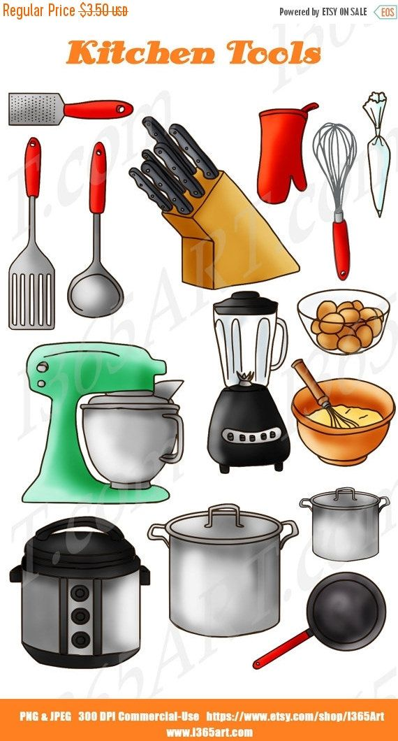 50% Off Sale Kitchen Clipart, Kitchen Clip art, Baking clipart ...