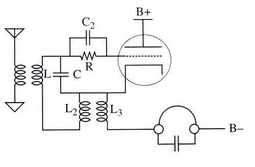 one tube regenerative radio circuit