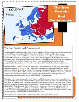 The Iron Curtain And Containment With Images History