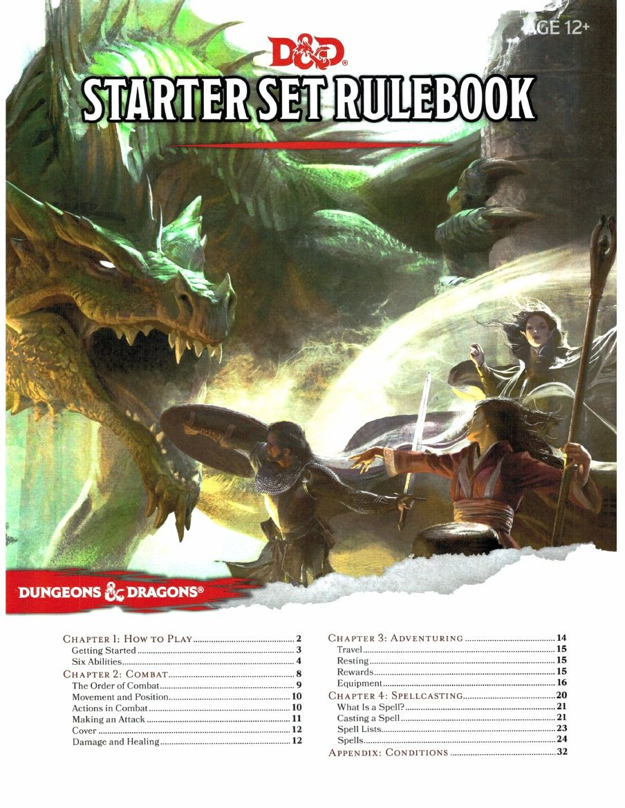 D D 5e Starter Set Rulebook Pdf Dungeons Dragons Role