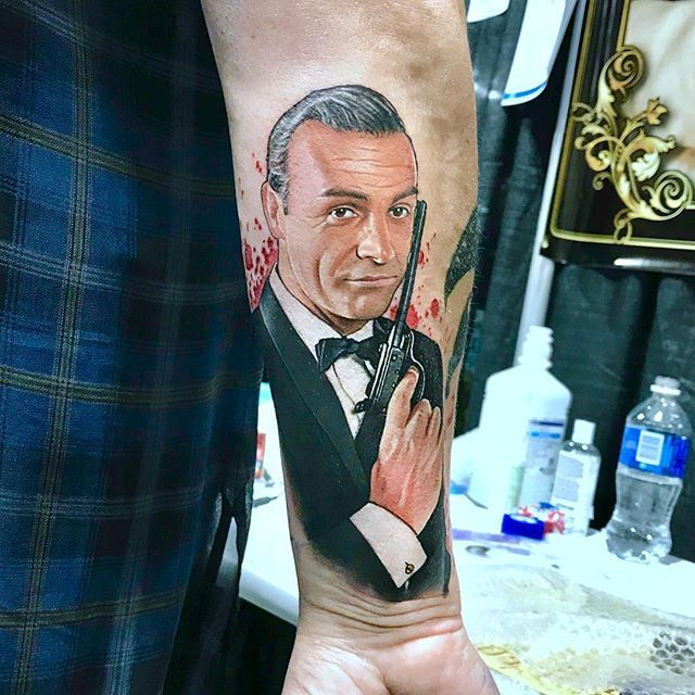 The Names Bond James Bond The One And Only Sean Connery And My First Bond Tattoo At Last The Final Piece From Calgarytattooshow Fusion Ink Tattoos Ink