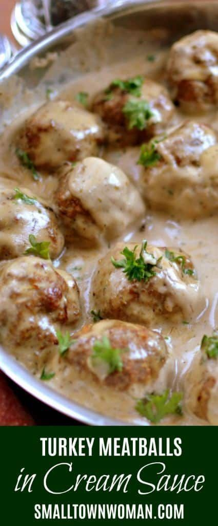 Photo of Turkey Meatballs In Easy Cream Sauce