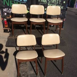 Retro Dining Chairs For Sale 4 X Vinylwood 85 Each Please Note In The Main Photo There Are 5 But 1 Has Been Sold So Only Left Mrs