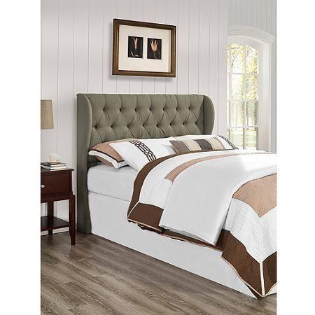 York King/California King Tufted Wing Headboard, Grey | Casa | Pinterest