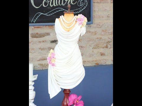 Decoracion de Tortas - Pasta de Goma .Vestido de Novia - . Orquideas - C...