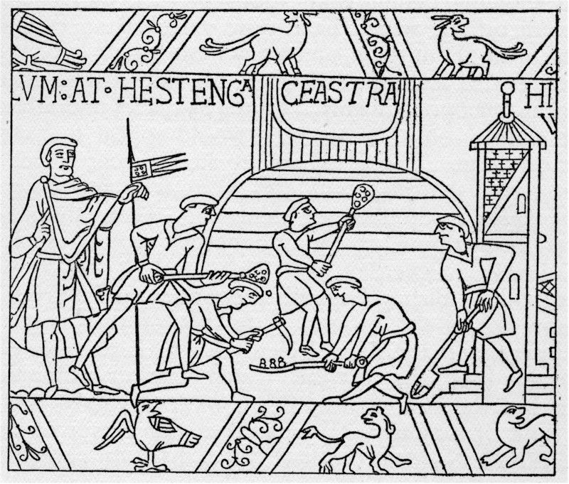 Bayeux Tapestry Coloring Pages Bayeux Tapestry Medieval