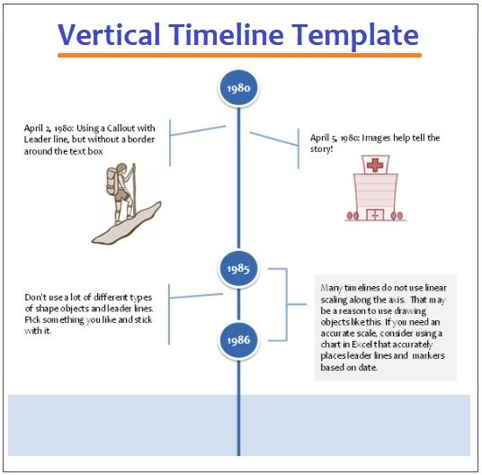 vertical timeline template 3 free printable pdf excel word