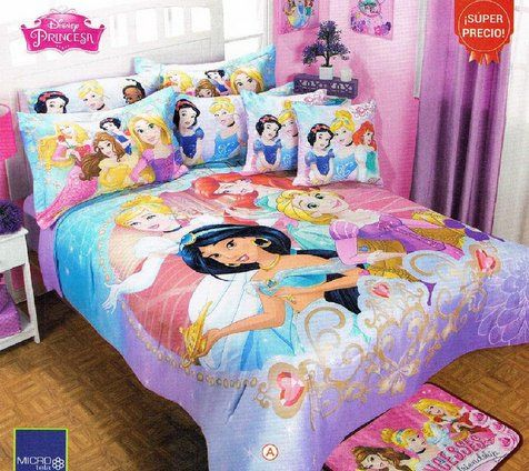 Disney Princess Full Size Bedding Set Lanzhome Com In 2020 Disney Princess Bedroom Disney Princess Bedding Disney Princess Room