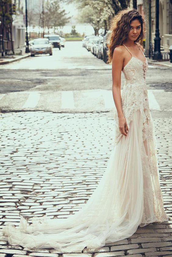 These Pretty Wedding Dresses Are a Bohemian Dream | Pinterest ...