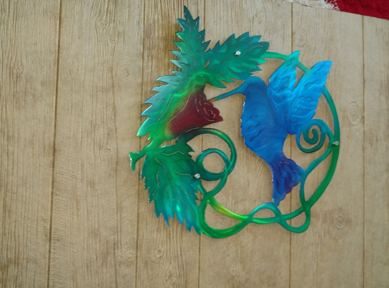 wall art Hummingbird metal wall art -etsy handmade ...