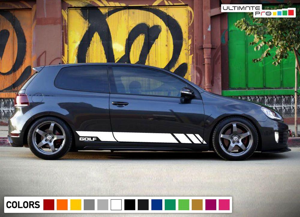 Sticker Decal Graphic Door Stripes For Volkswagen Golf 2009 2014 Lip Bumper Wing Ultimateprocy1 Volkswagen Golf Volkswagen Vw Golf