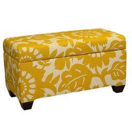 Love The Yellow Storage Ottoman Bench Ottoman Bench