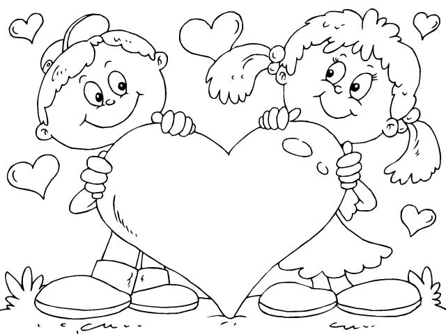 Dia De San Valentin Imagenes Para Colorear Dibujos De San
